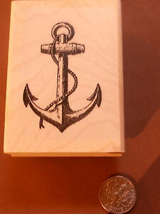 Anchor rubber stamp WM P23
