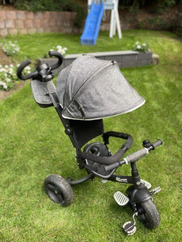 Dreirad Clamaro Schwarz Sonnenschirm mit Schiebestange zum Lenken