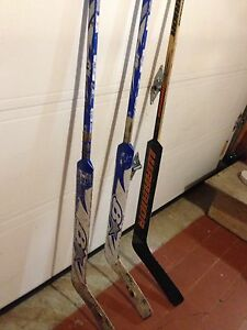 Used goalie sticks 10$ each, 25$ for 3