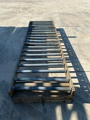 Adjustable Roller Gravity Conveyor 10 Ft Length 36 Width 24- 30 Height