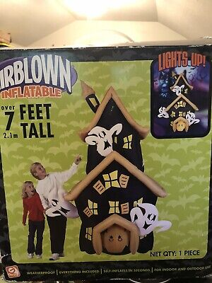 Rare Gemmy Haunted House Airblown Over 7 feet Tall Inflatable 2006