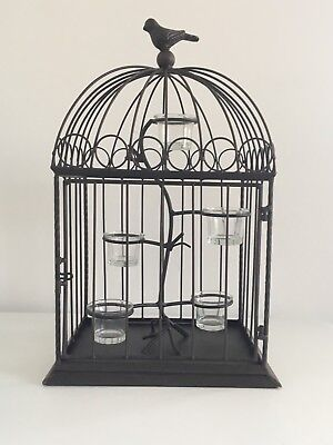 Celebrating Home Natures Song Bird Cage Votive/Candle Holder Metal Brown 51122