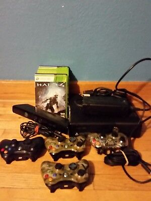 Microsoft Xbox 360 Kinect Bundle 250GB Matte Black Console for sale  Shipping to India