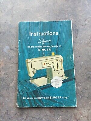 Singer STYLIST ZIG-ZAG SEWING Machine Model 457 instruction/owners manual 10A