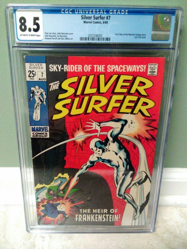 Silver Surfer #7 CGC 8.5 HIGH GRADE Marvel Comic KEY Last Tales of the Watcher
