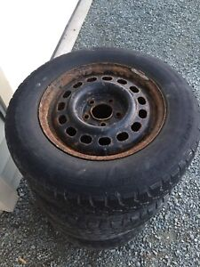 """15"""" winter tires and rims (5x114.3)"""