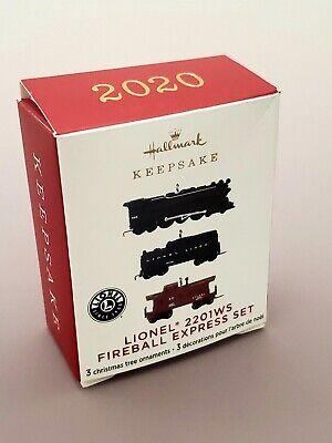 2020 Lionel 2201WS Fireball Express Set Train Miniature CHRISTMAS ORNAMENT Mini