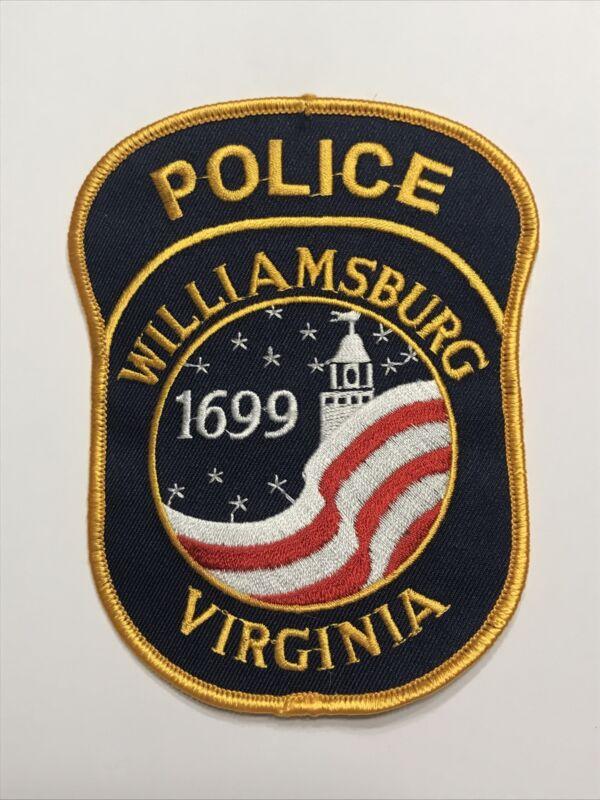 Williamsburg Virginia Police Dept Patch VA American Flag Colorful