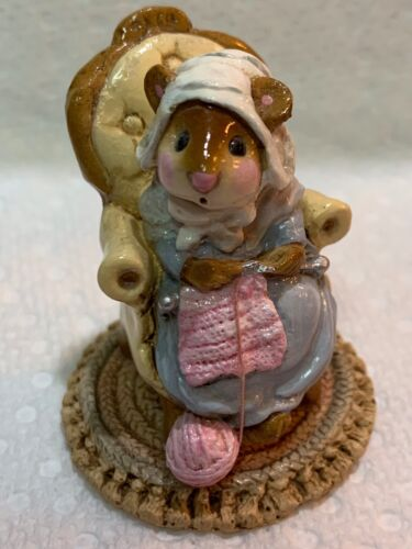 Wee Forest Folk Retired Pearl Knit Mouse