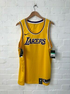 Nike Los Angeles Lakers NBA Men's Icon Basketball Jersey - XL - Yellow - New