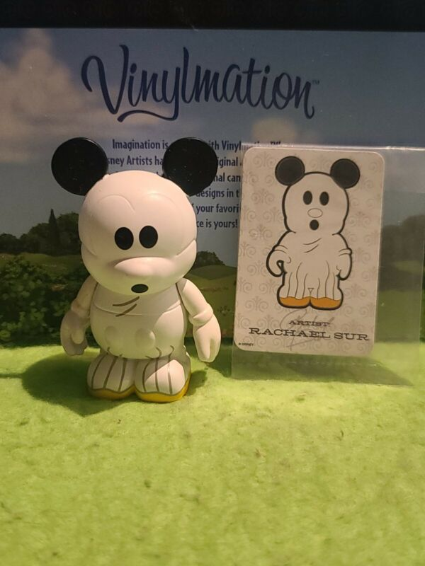 """DISNEY Vinylmation 3"""" Park Set 1 Holiday Halloween Ghost Mickey with Card"""