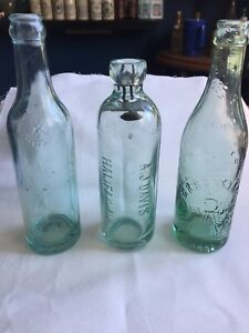 Antique - soda pops bottles