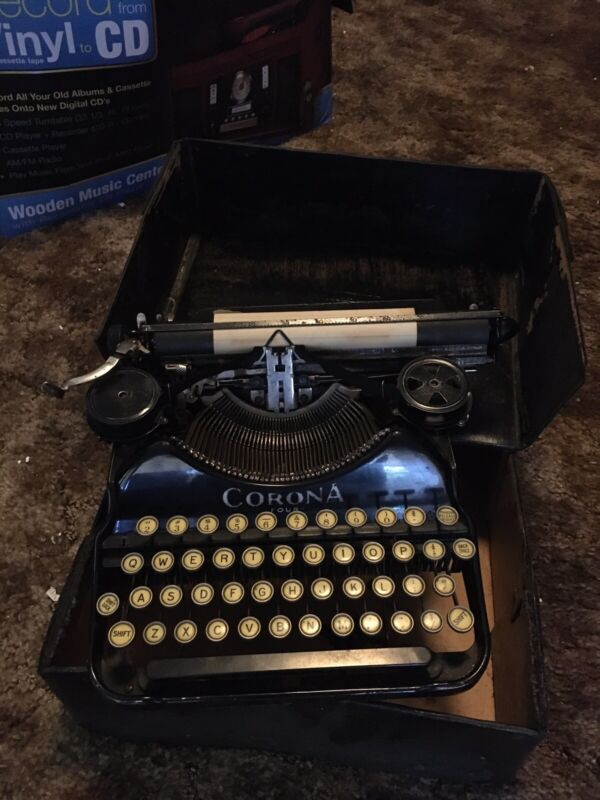 Antique Corona Four Typewriter