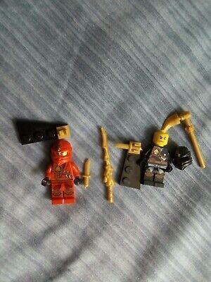 Genuine Lego Ninjago Minifigures Kai / Cole Bundle.
