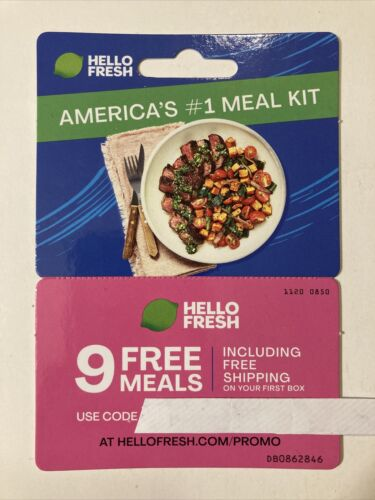 Hello Fresh Meal Delivery Box Coupon - 9 Meals, 81 Off Fast E-delivery  - $1.49