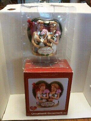 "carlton cards heirloom ornaments collection ""I Love Lucy"" with sound."