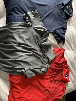 Nike Tiger Woods Collection Lot Of 3 Medium Polo's