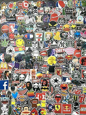 Home Decoration - 200 Skateboard Stickers Vinyl Laptop Luggage Decal Dope Sticker Lot Longboard