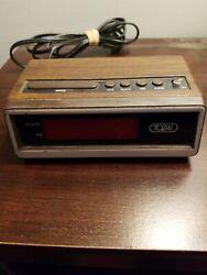 Vintage TOZAI Digital Alarm Clock Model ATC-3035-Snooze-Battery Backup Wood Look