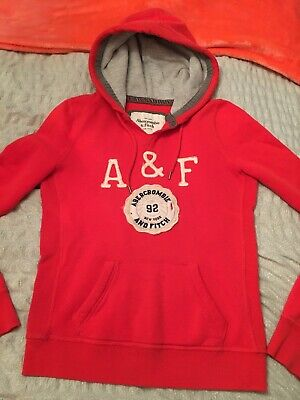 Genuine Abercrombie & Fitch Red Hoodie Medium
