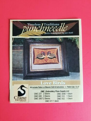 Timeless Traditions ~ PUNCH NEEDLE PATTERN ~ Love Birds
