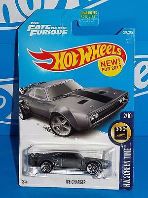 Hot Wheels New For 2017 HW Screen Time #266 Fate of the Furious ICE Charger Grey
