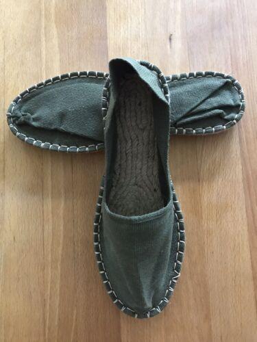 Espadrille kaki sandale mixte made in france pays basque 46 neuf