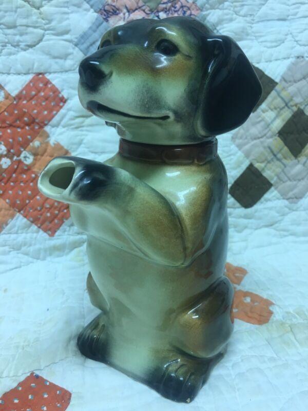 VINTAGE 1940 ERPHILA Made in Germany Porcelain Dachshund Wiener Dog Teapot 6703B