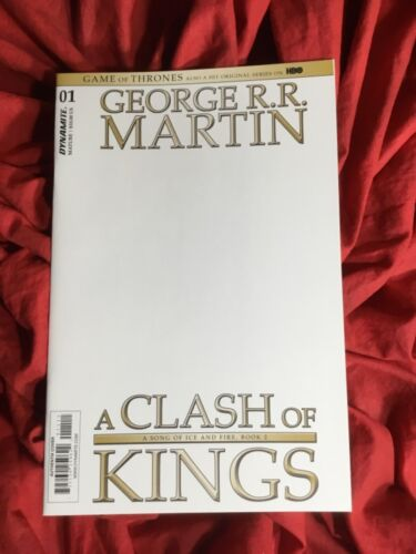 GEORGE R.R. MARTIN'S A GAME OF THRONES CLASH OF KINGS #1~BLANK SKETCH VARIANT~B