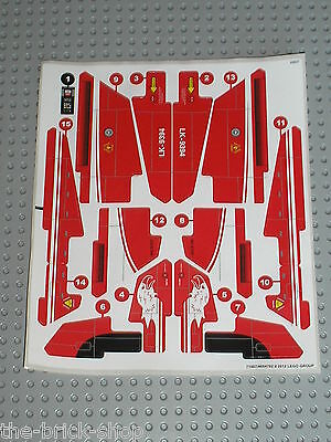 Autocollant pour avion LEGO TECHNIC stickers for set 9394 Jet Plane