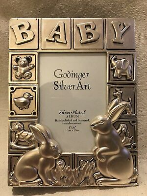 Godinger Silver-Plated BABY PHOTO ALBUM, used for sale  Sacramento