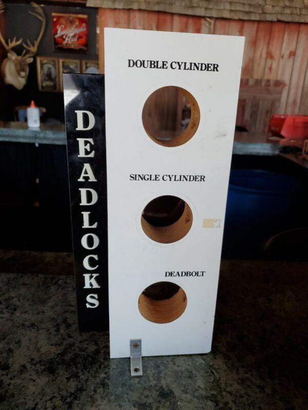 Door Hardware Vintage Mounted Salesman  Sample Display Lock Deadbolt Deadlocks