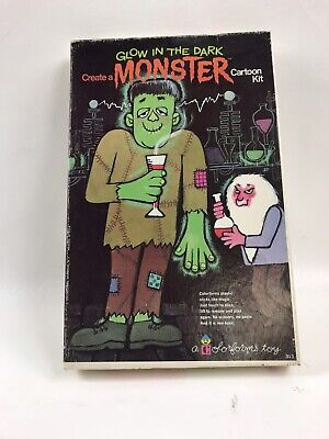 Colorforms- Create A Glow In The Dark Monster Cartoon Kit -Complete -Halloween