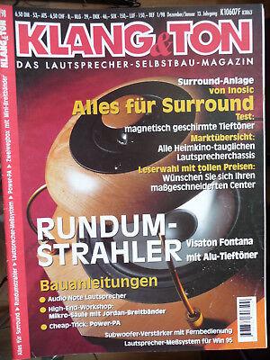 Klang&Ton Zeitschrift,1 Heft aus 98,99, siehe Liste