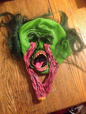 Eye Socket Halloween (EXPLODING EYE SOCKETS MASK GREEN EYEBALLS MONSTER SCARY HALLOWEEN NEW)