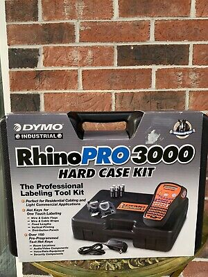 Dymo Rhino Pro 3000 Label Maker With Hard Case No Tape..little Use