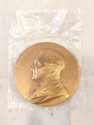 """Harry S. Truman Inauguration Bronze Medal/Paperweight by Linnock, 3"""""""