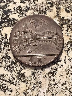 1839 GERMAN STATES FRANKFURT 1 KREUZER LOT3439 SILVER NICE CITY VIEW