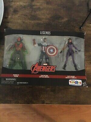 Marvel Legends 3 Pack- VISION, CAPTAIN AMERICA, Kate Bishop TOYS-R-US Exclusive!