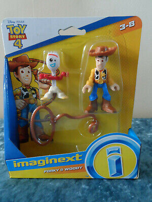 Fisher Price 2018 Imaginext Disney/Pixar Toy Story 4 Forky & Woody Figures New