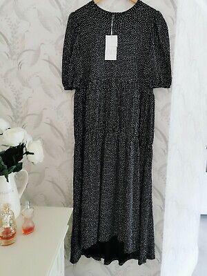 Zara Spotted Print Midi Dress Size M BNWT