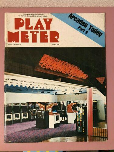 Play Meter Magazine June, 1981 w/ Roger Sharpe
