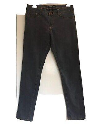 "JORDACHE Denim Leggings Grey Jeans Size 16 Leg 31"""