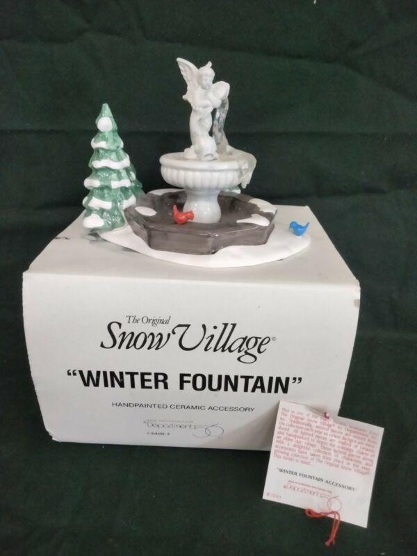 Department 56 Snow Village #5409-7 Winter Fountain 1991