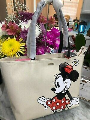 ❤️Kate Spade Disney Minnie Mouse Francis Coated Canvas Top Zip Shoulder Tote New