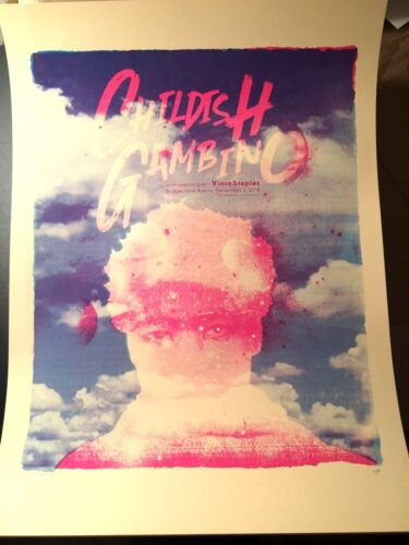 🔥 CHILDISH GAMBINO NASHVILLE TN Dec 2nd 2018 ARTIST EDITION SCREEN PRINT POSTER