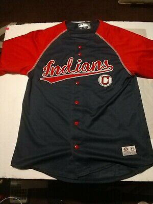 - Genuine MLB Merchandise Cleveland Indians Jersey Shirt W/VintageC True fan serie