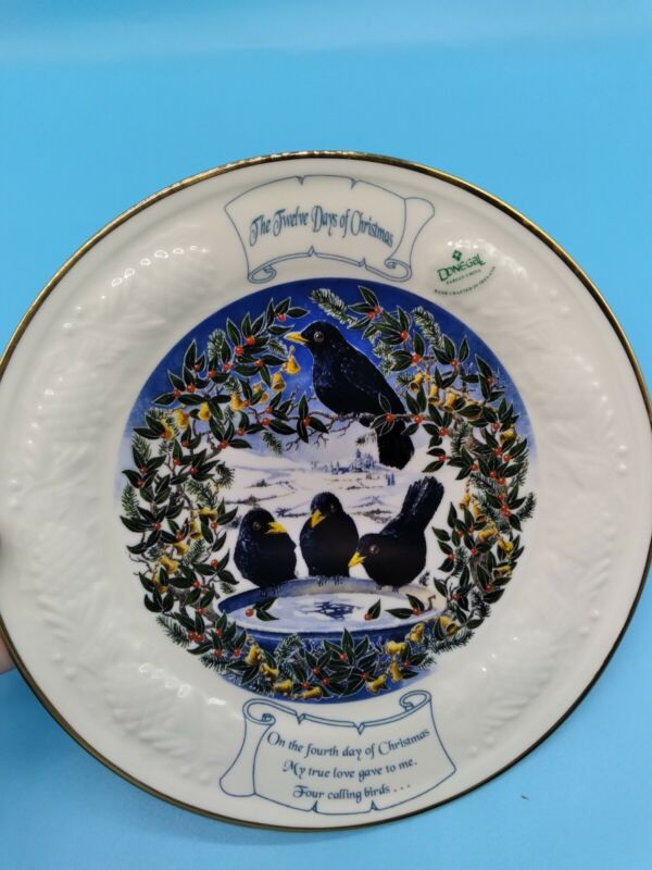 """DONEGAL PARIAN CHINA 12 DAYS OF CHRISTMAS COLLECTOR PLATE """"FOUR CALLING BIRDS"""""""