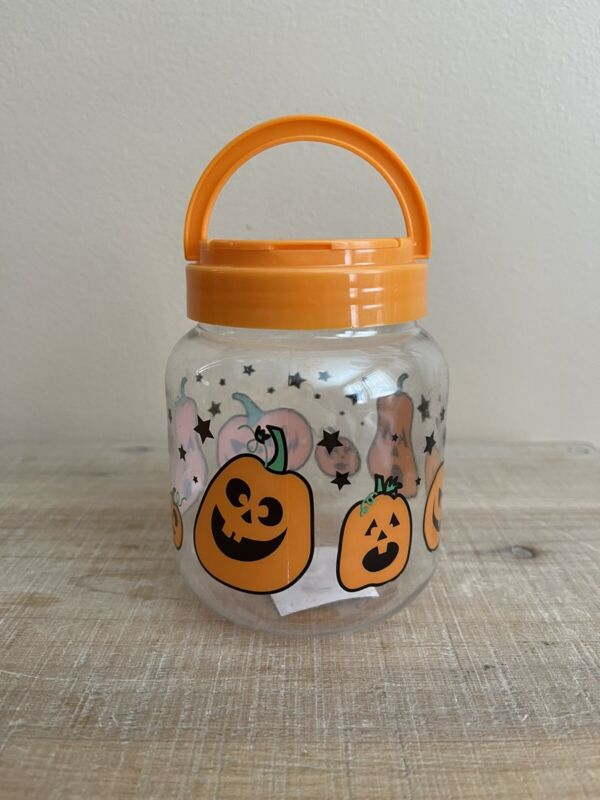 VINTAGE HALLOWEEN JACK O LANTERN CANDY CONTAINER