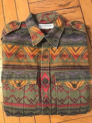 Polo Ralph Lauren Denim Supply SouthWestern Aztec RRL Long Sleeves Shirt Size M